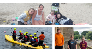 Images of young carers taking part in different activities throughout the summer supported by Dundee Carers Centre