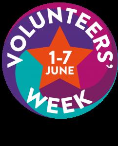 Logo for volunteers week