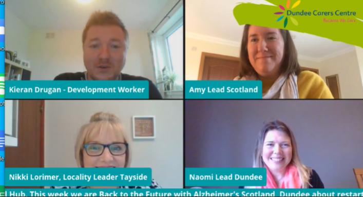 Screenshot of Virtual Hub - Back to the Future - Alzheimer's Scotland Episode.